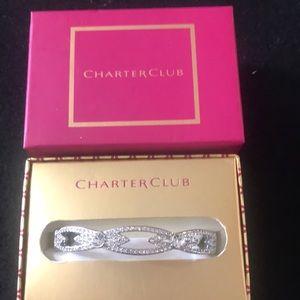 Charter club silver bracelet